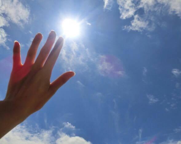 手のひら 太陽