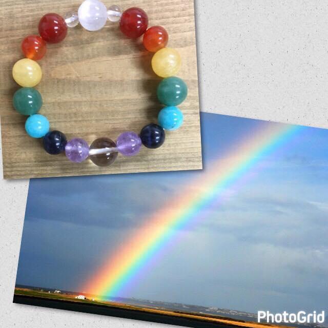虹のパワーストーンブレスレット